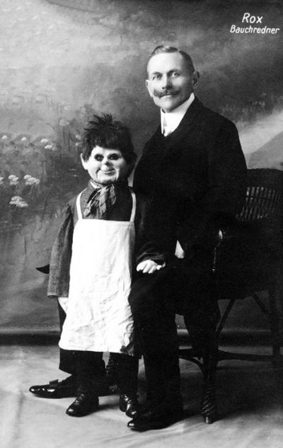Old vaudeville ventriloquist ad photo