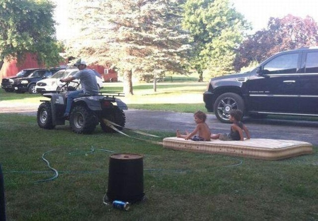 This dad who doesn't need Disneyland to show his kids a good time