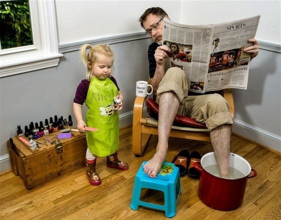 This dad who knows the importance of a spa day
