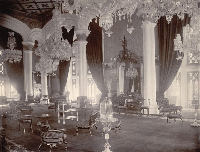interior of the Durbar Hall, Palace , 1890
