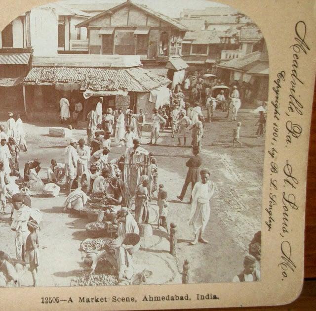 A Market Scene, Ahmedabad, Gujarat - 1901
