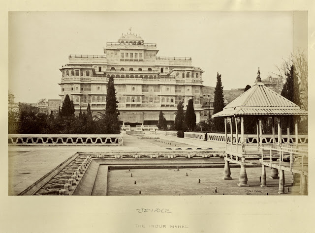 Chandra Mahal (Part of City Palace) in Jaipur, Rajasthan - c1870's
