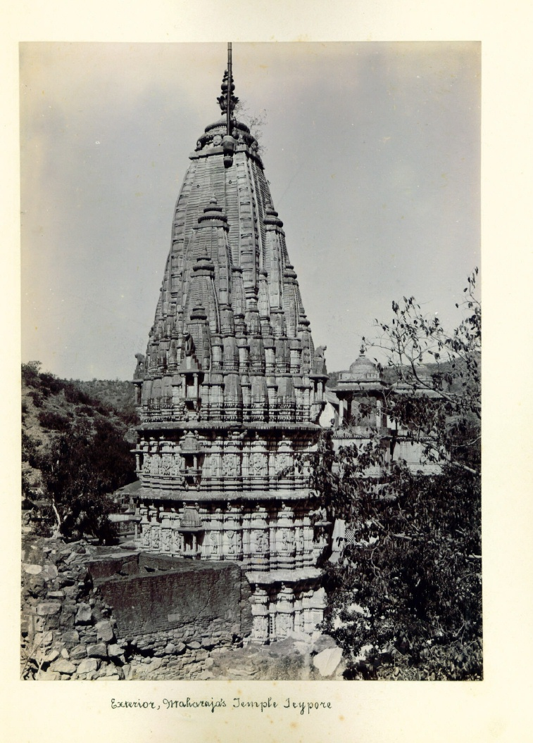 Exterior of Maharaja's temple, 1900