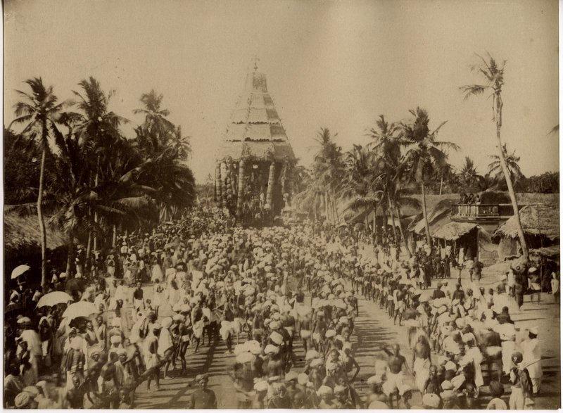 Festival Procession in Pondicherry - c1880's