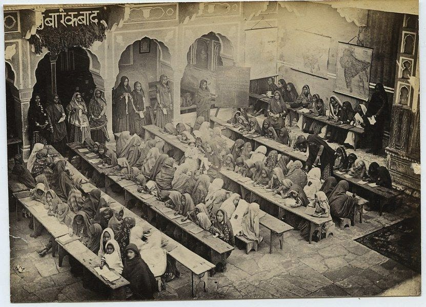 Girls School in Jaipur, Rajasthan - c1870-80's b