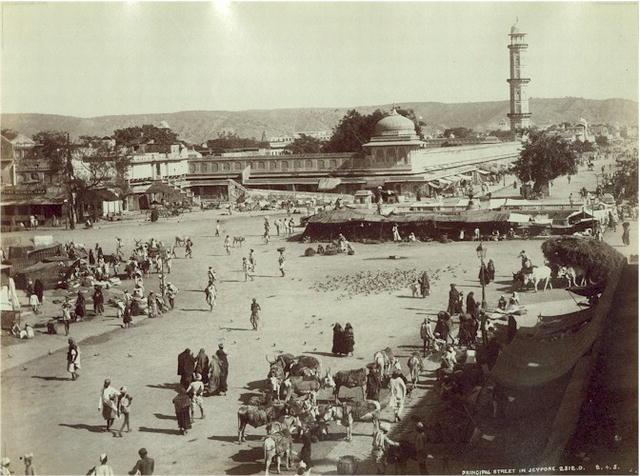 Jaipur,_Principal_Street,_c._1875