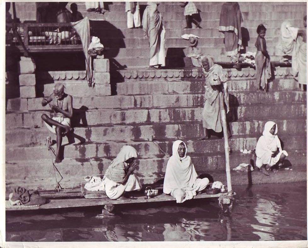 Meditation on Ghat during 1940s