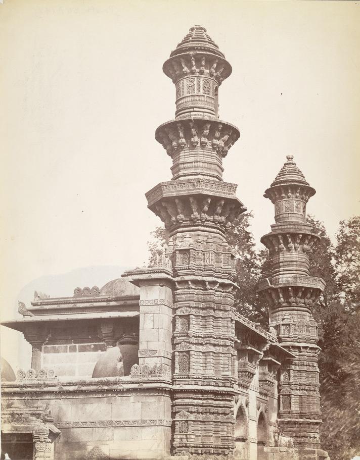 Moohafiz Khan's Mosque, Ahmedabad; a photo by Charles Lickfold, 1880's