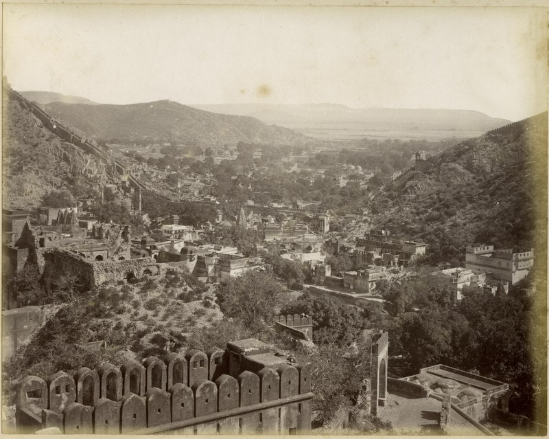 Panoramic view of Umbere, an albumen print, c.1880's