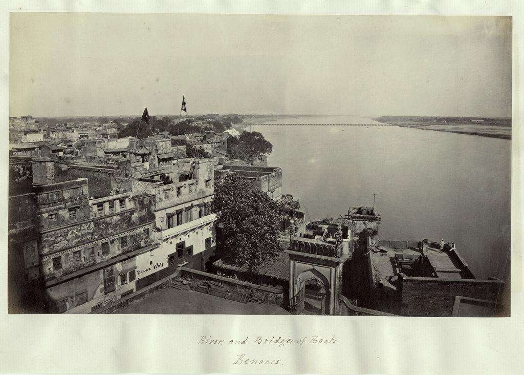 River & Bridge of boats Benaras