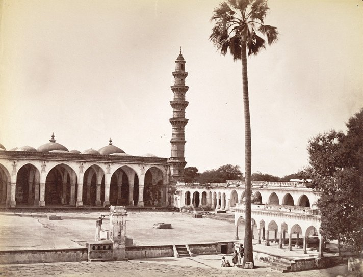 Shah Alam, portion of mosque showing one minaret of two