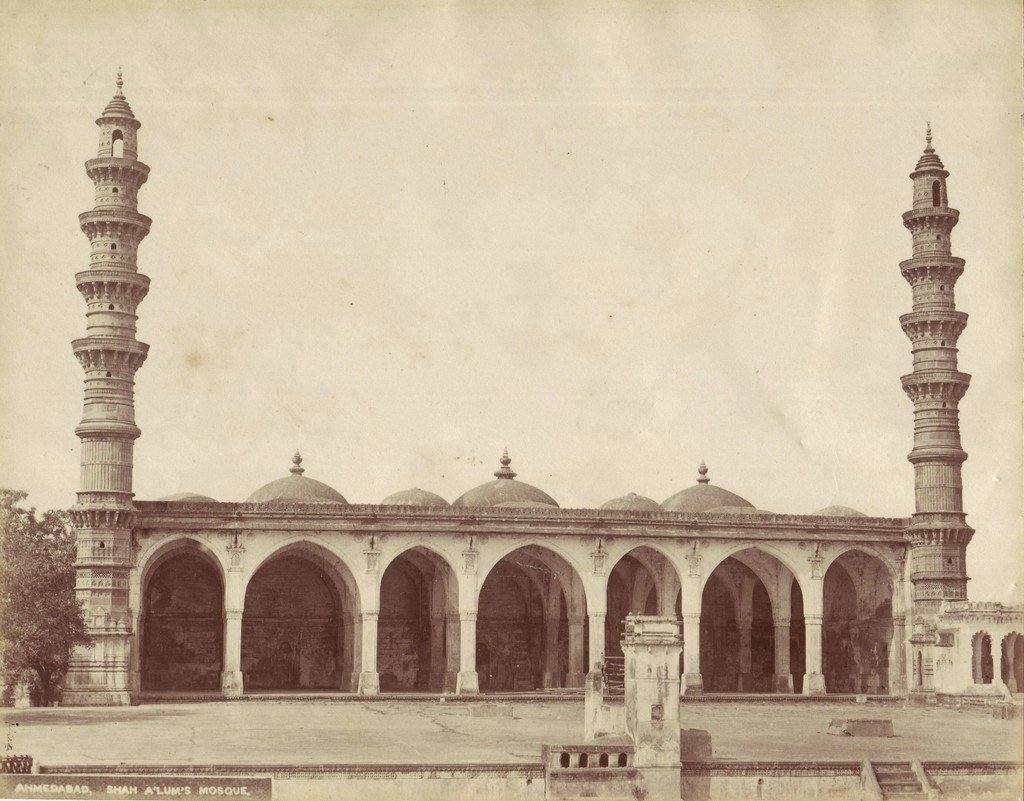 The Shah Alam mosque, in an albumen photo, c.1870
