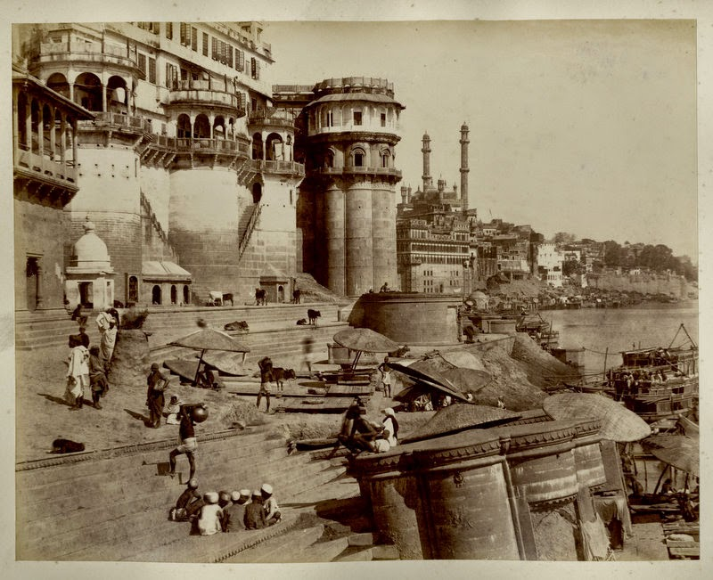 Varanasi Ghats and Architectures - c1880's b