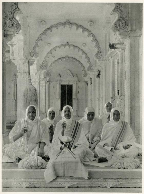 View of Jain Nuns in the New Jaina Temple - 1928