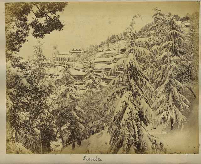 Church from the club Simla 1890's