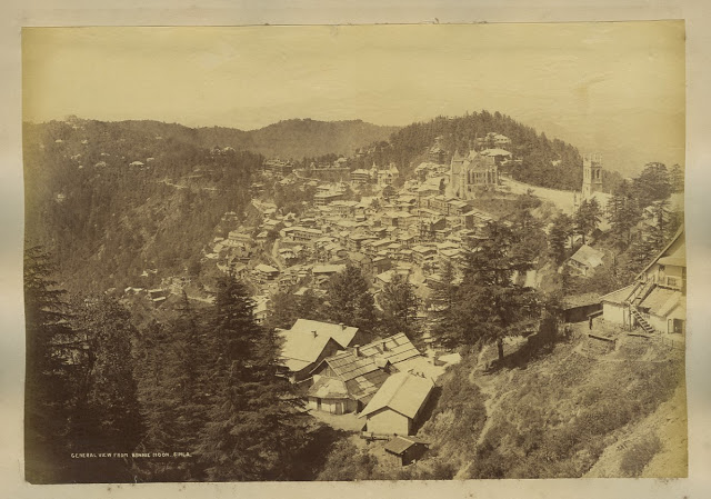 General View from Bonnie Moon Simla 1890's