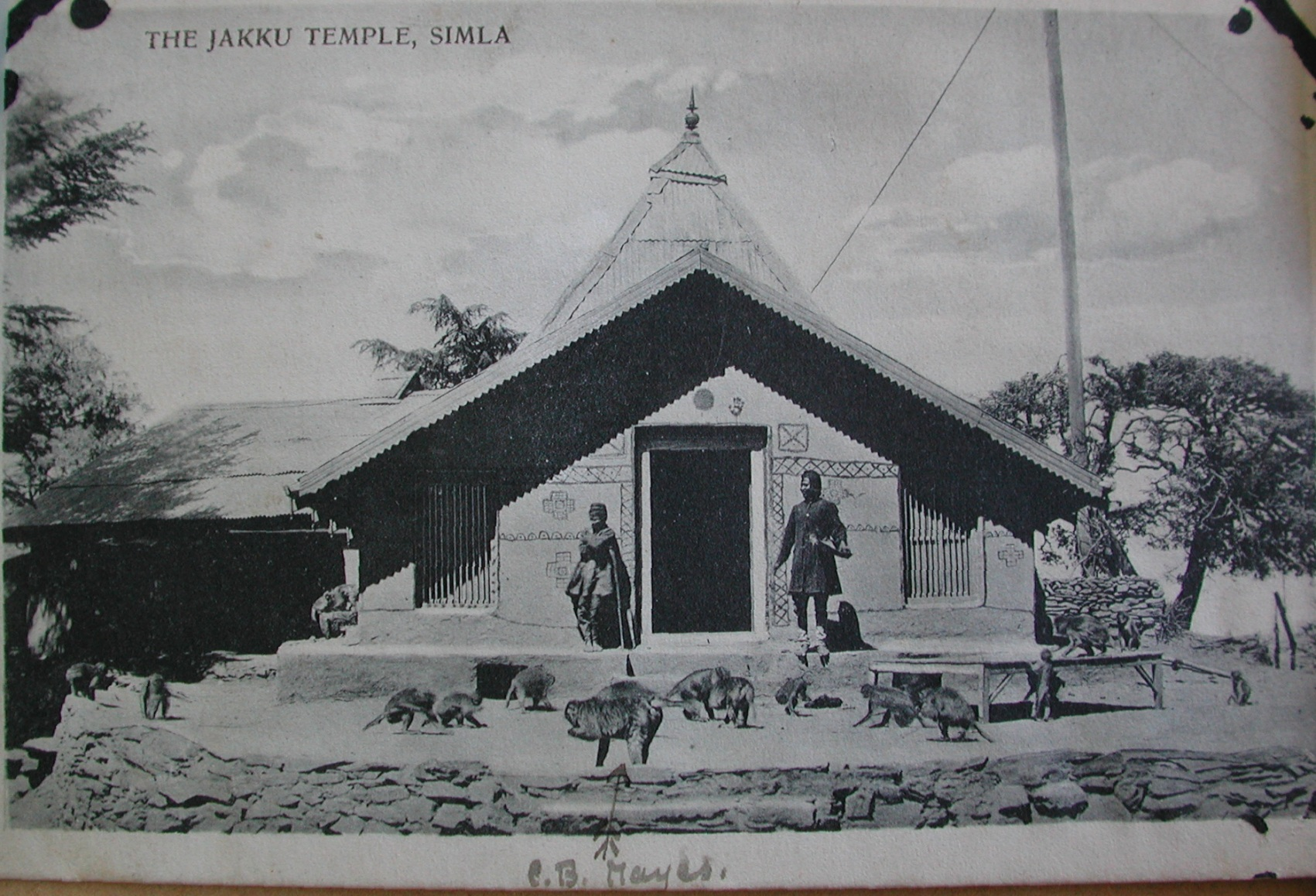 Jakhu Temple in 1910