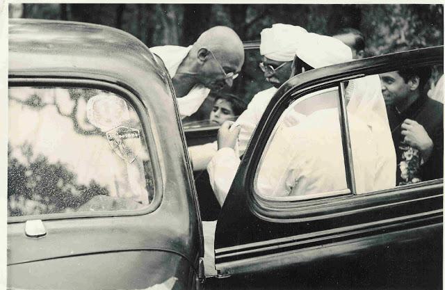 Mahatma Gandhi's Arrival in Simla - 1945