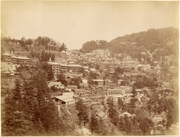 Simla in the 1890s albumen photos from an album belonging to a British officer, John Mitchell Holms