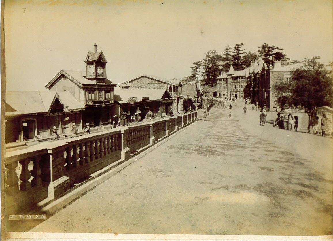 The Mall,Simla _ 1890s