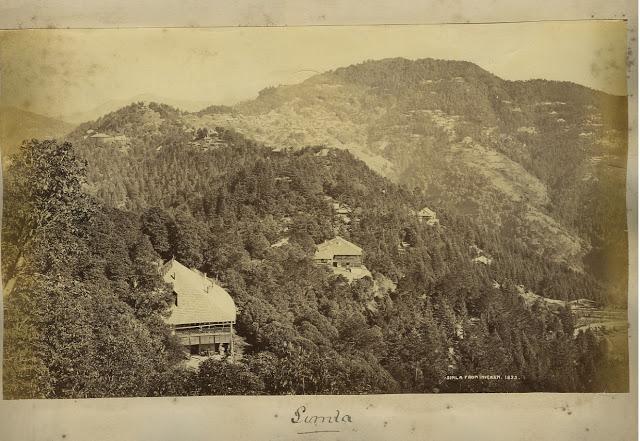 view of Simla 1890's