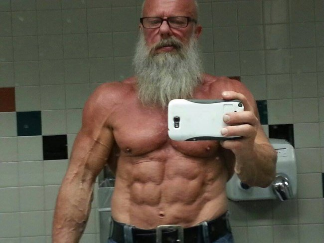 70 Years Old Man Bodybuilding