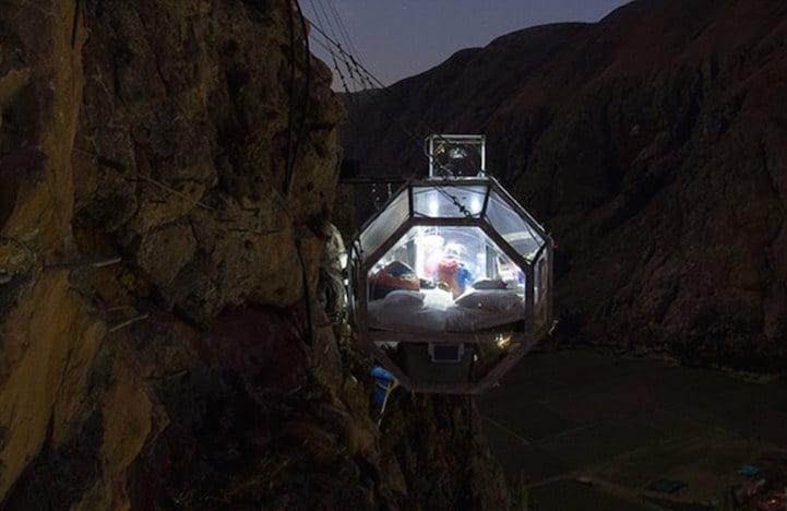 Hotel Peru Sacred Valley Skylodge South America Scariest