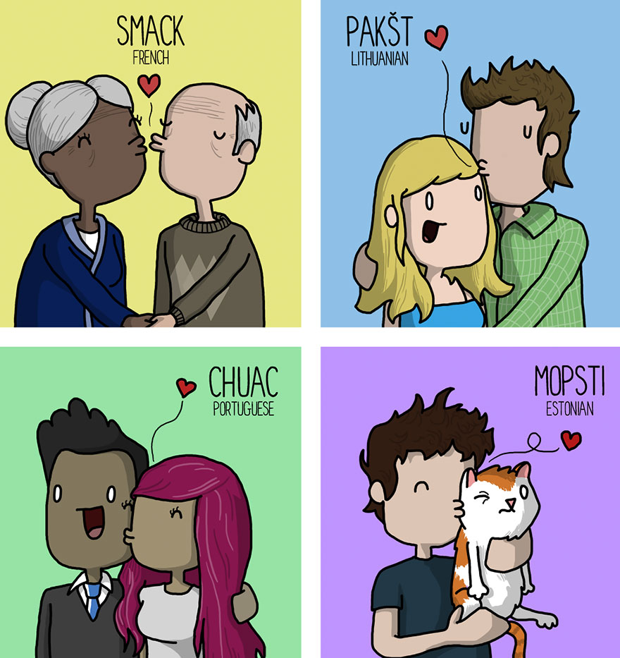 kissing in different languages