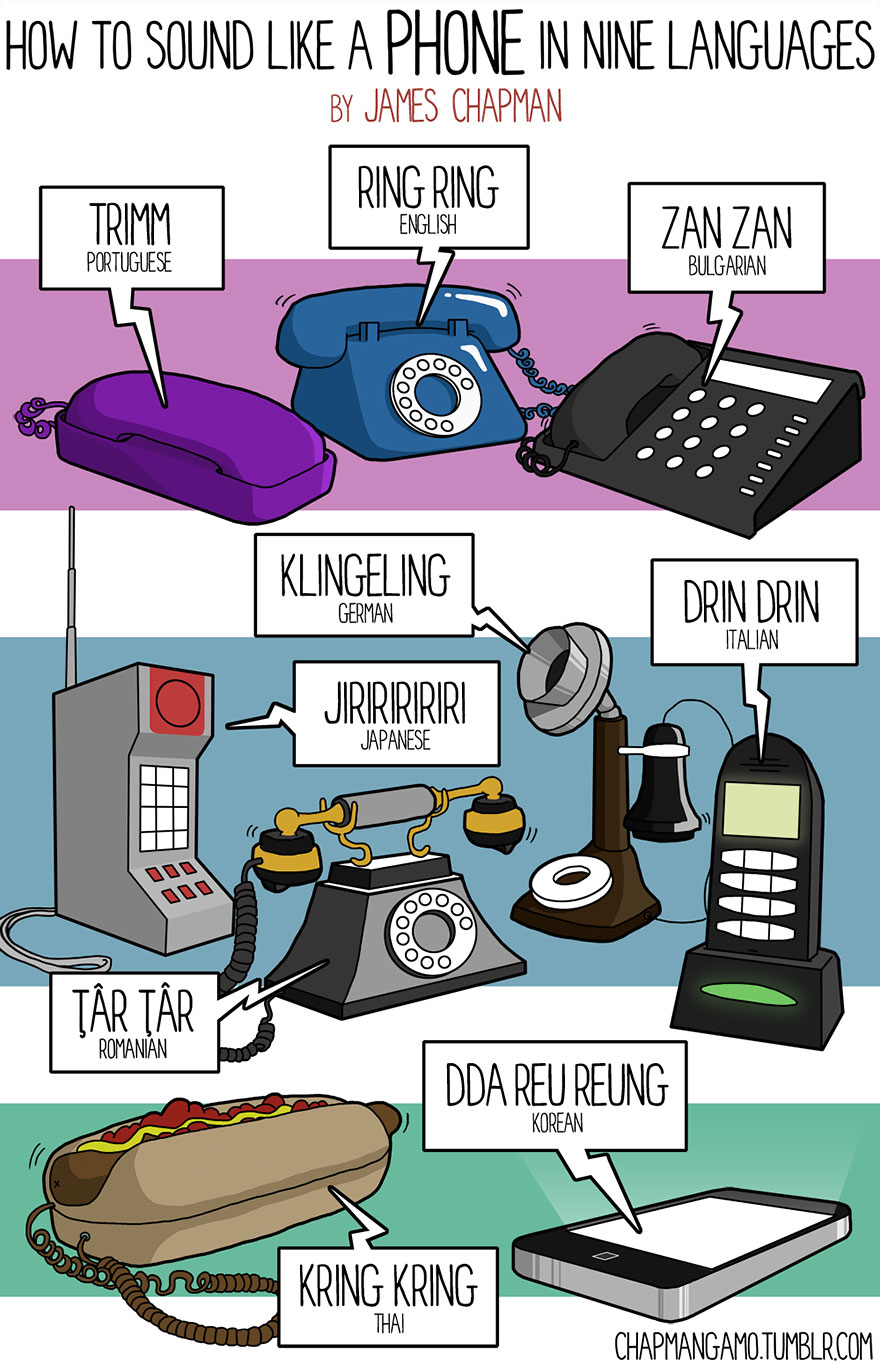phone sound in different languages