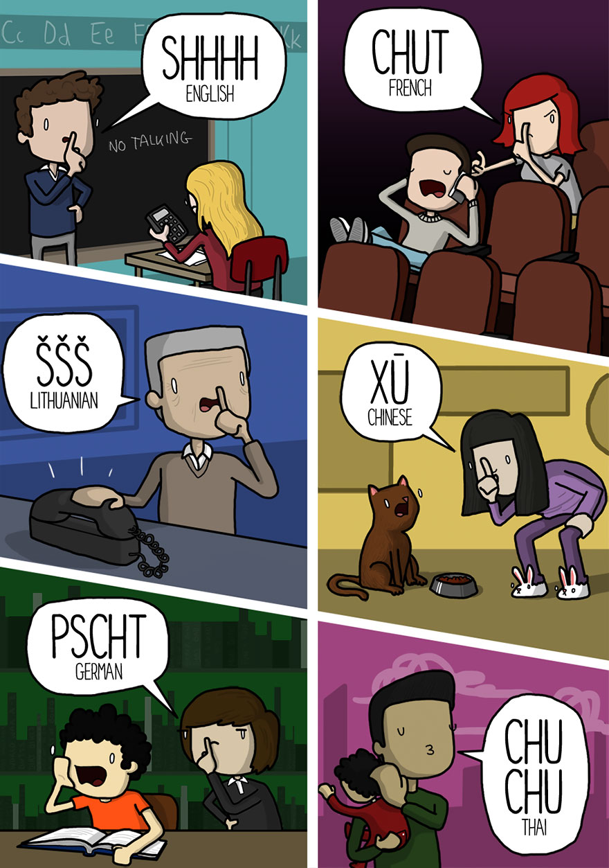 silence in different languages
