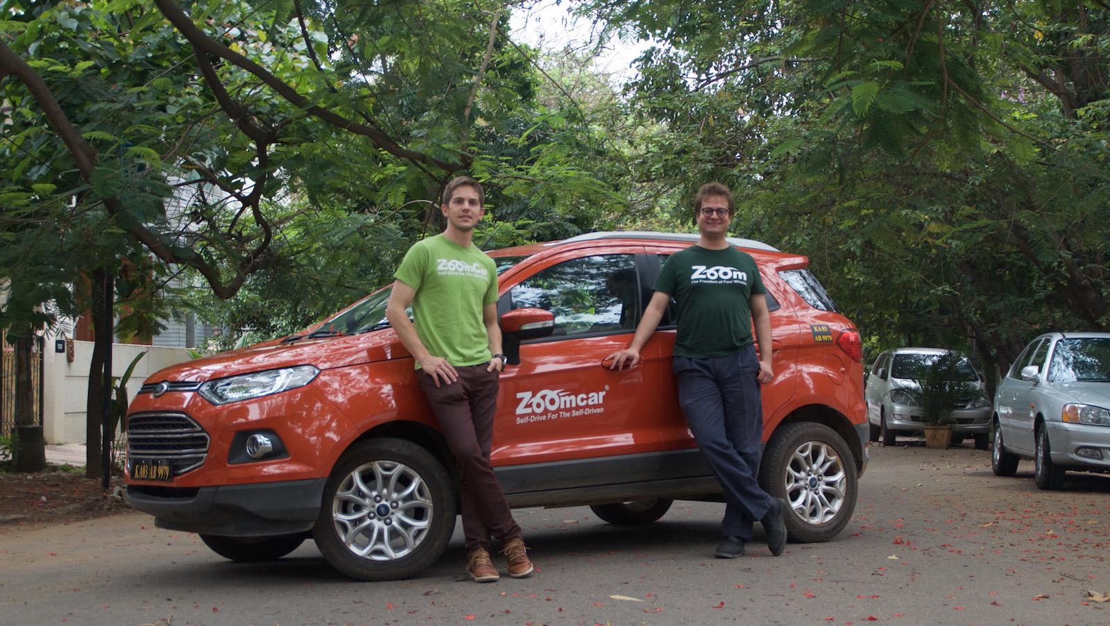 Zoomcar founders Greg Moran and David Back