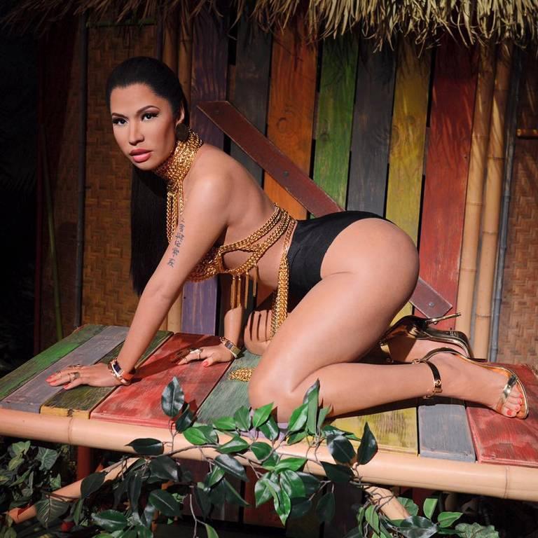 Nicki Minaj's 'Anaconda' Wax Figure Unveiled At Madame Tussauds