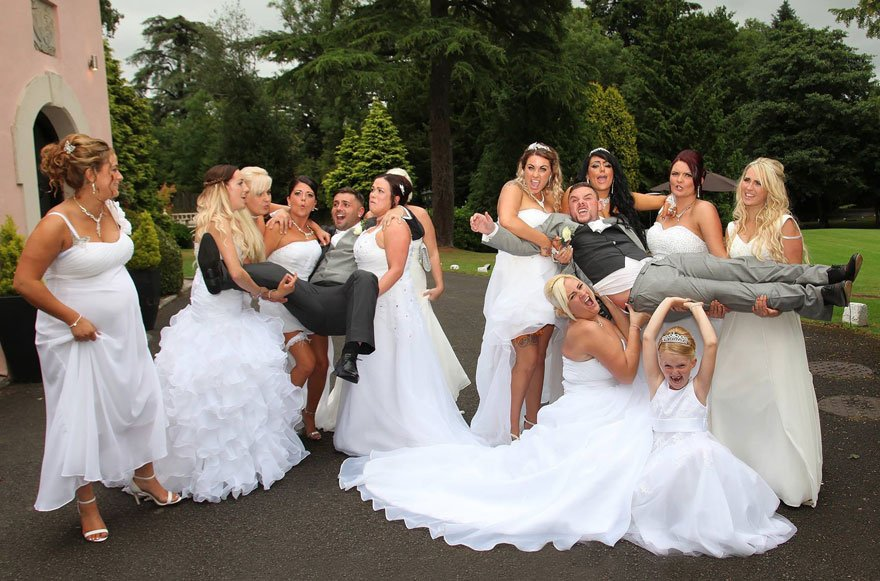 Meet This Gay Couple Who Invited 10 Brides To Their Wedding | Reckon ...