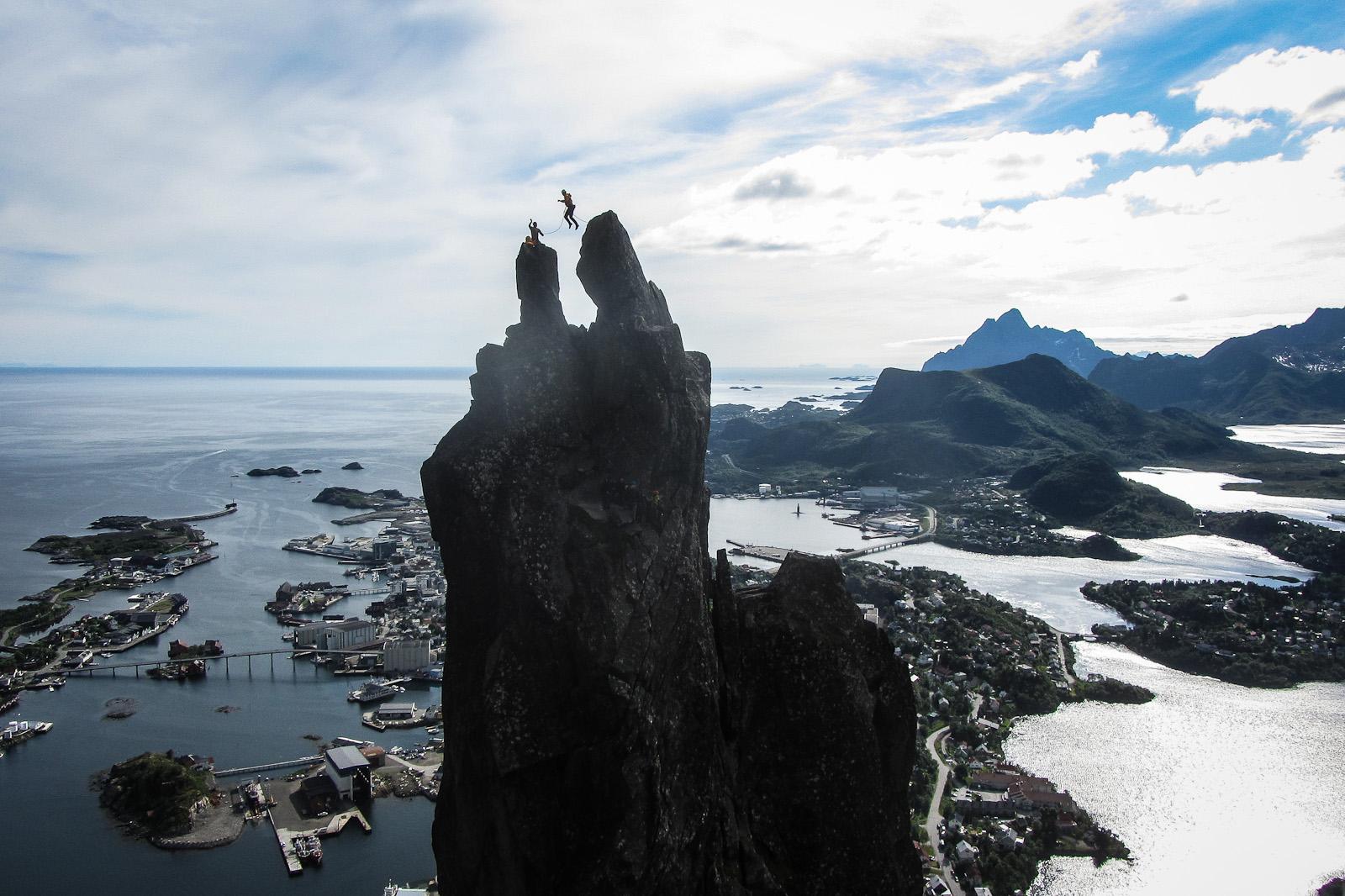 Svolvaergeita, norway, grind, Travel, Northern Alpine Guides, Jump, climb, Cliffs, Jumping the horns, Norwegian Trekking Association, photography, Norwegian, europe