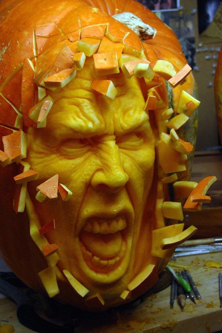 pumpkin, Sculpture, Carvings, creative, innovative, amazing, wow, art, imagination,  Halloween, autumnal fruit, season, winter, awesome, fruit, idea, great