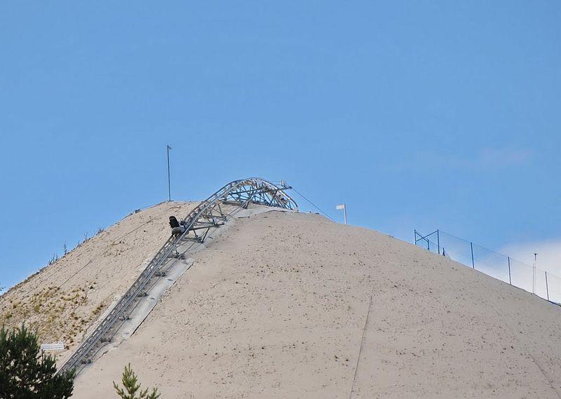 Artificial Sand hill, Monte Kaolino, Hirschau, Germany, country, city, sand, kaolin-quartz sand, sand skiing, kaolin Mining, sand clay, idea, sports, wow, amazing, creative, great, awesome