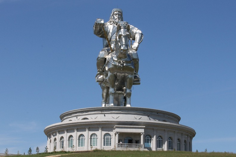Mongolia, Genghis Khan, Equestrian Statue, Biggest Statue, asia, facts, Emperor, Mongol Empire