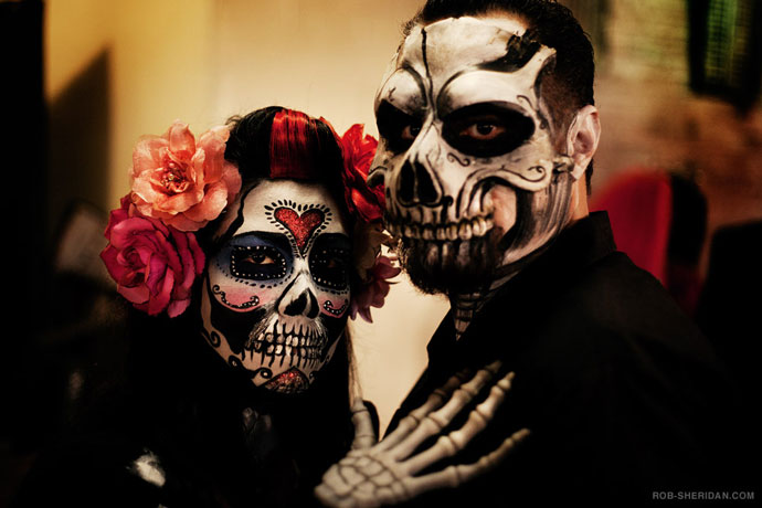 day of the dead makeup couple - photo #11