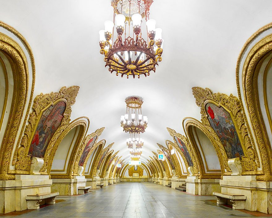 "moscow, metro station, architecture, russia, david burdeny, the Moscow Metro, architect, photographer, Canada, big Soviet propaganda project, photo series, ""Russia: A Bright Future, photography, amazing, beauty, awesome, wow, historic station"