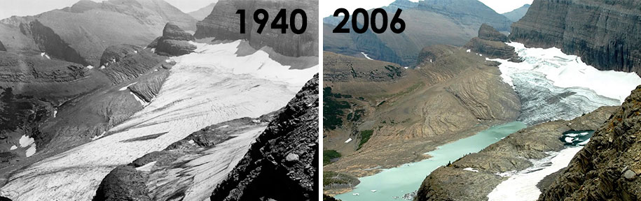these before and after photos of melting glaciers are