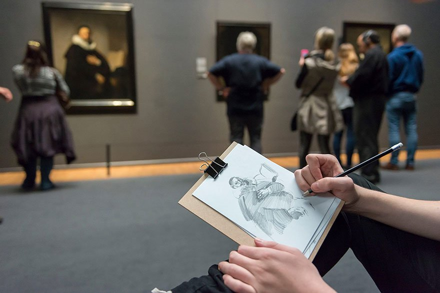Rijksmuseum, museum, Amsterdam, visitors, artwork, drawing, drawing, paintings, sketches, motivate, encourage, amazing, idea, awesome, aware