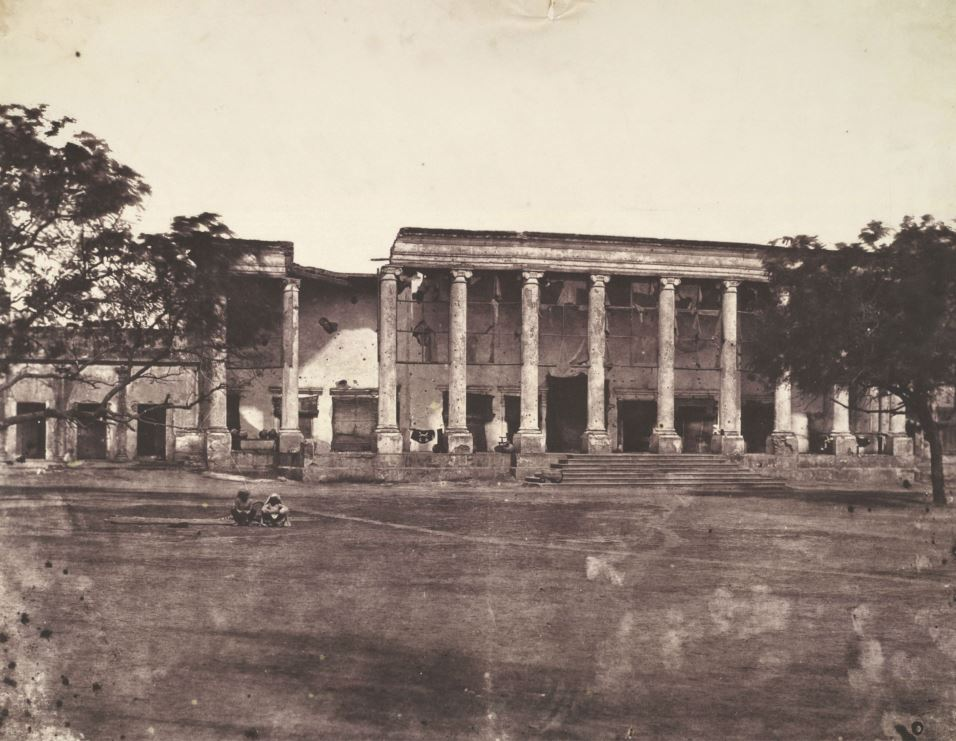 College Building in Delhi, Damaged by Indian Mutiny of 1857 Photograph Taken by Dr. John Murray in 1858