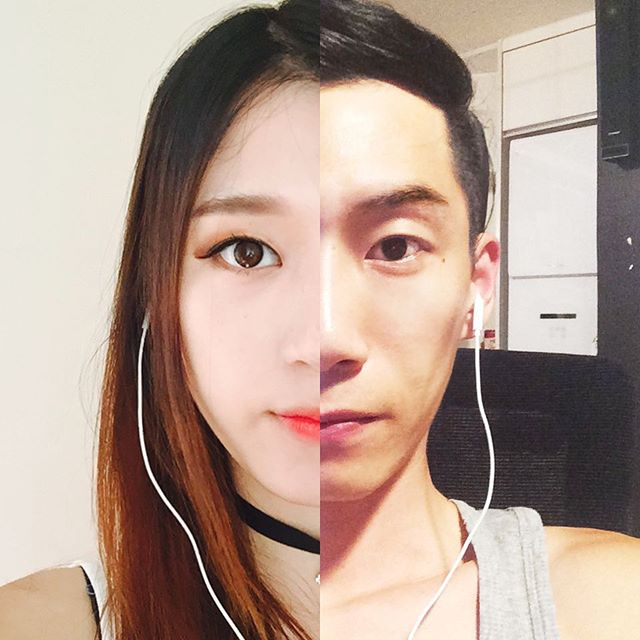 long distance relationship, korean couple, Danbi Shin, Seok Li, couple, photography, couple photography, shinliart, photo collage, Half&Half, creative, art, amazing, idea