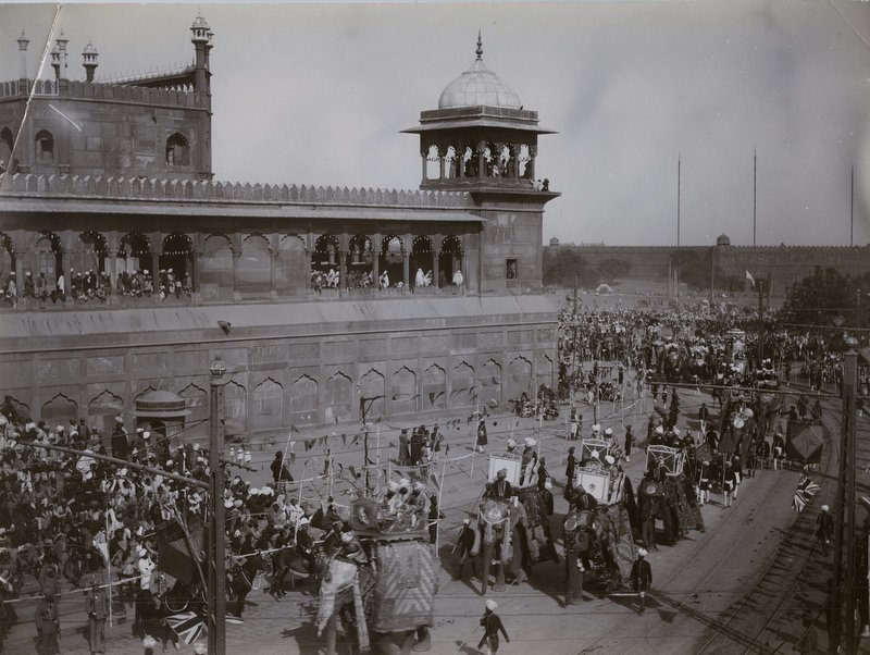 Delhi Durbar Procession with Elephant and Cavalry - 1911