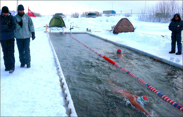 cooling bath, ice bath, cold shower, vladivostok, winter swimming competition, ice swimming, russia, russian, crazy, sports, siberia
