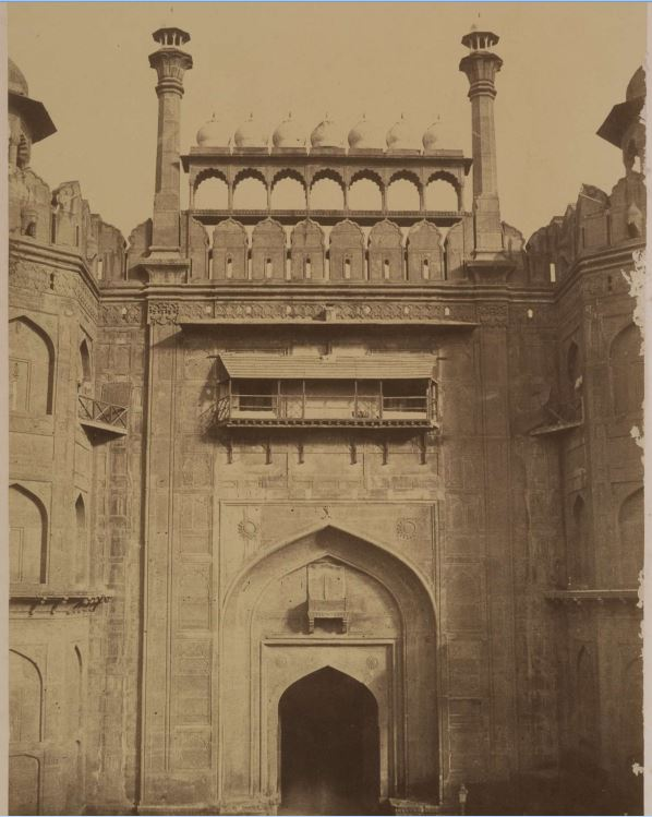 Lahore Gate of the Red Fort, Lal Kila, Delhi - c.1857-1858