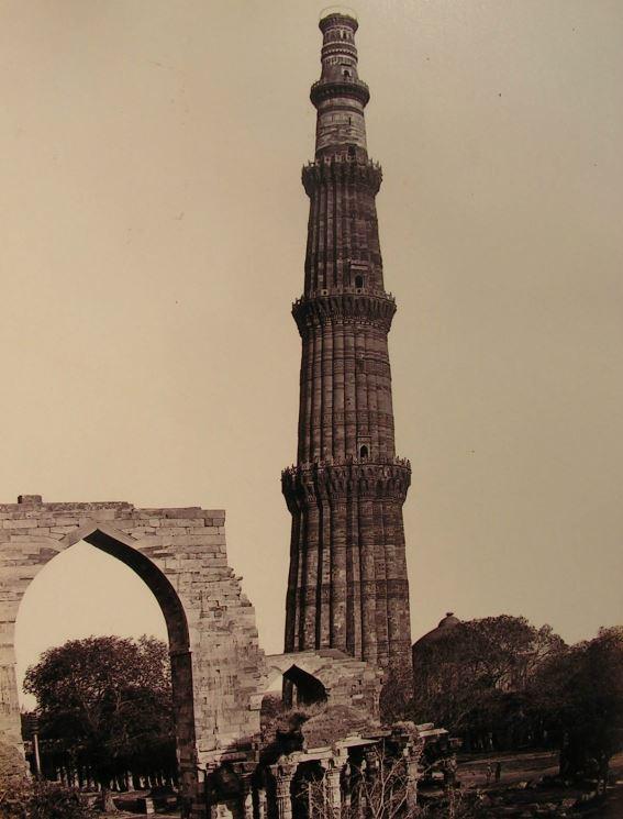 Qutb Minar and Great Arch in Delhi - c1880's