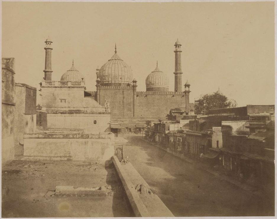Rear View of the Jami Masjid - Delhi c.1857-1858