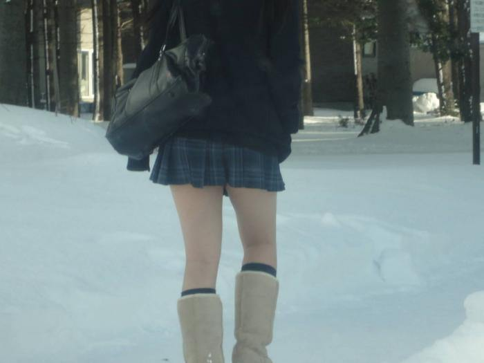 japan, japanese, school girl, fashion, weird, winter, kogal, japanese schoolgirl, asian, short skirts, snow festival