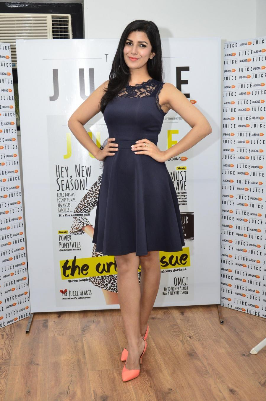 Actor Nimrat Kaur during the unveiling of cover of September - October issue of The Juice magazine for Jabong.com in Mumbai, on Sept. 18, 2014.(Photo: IANS)